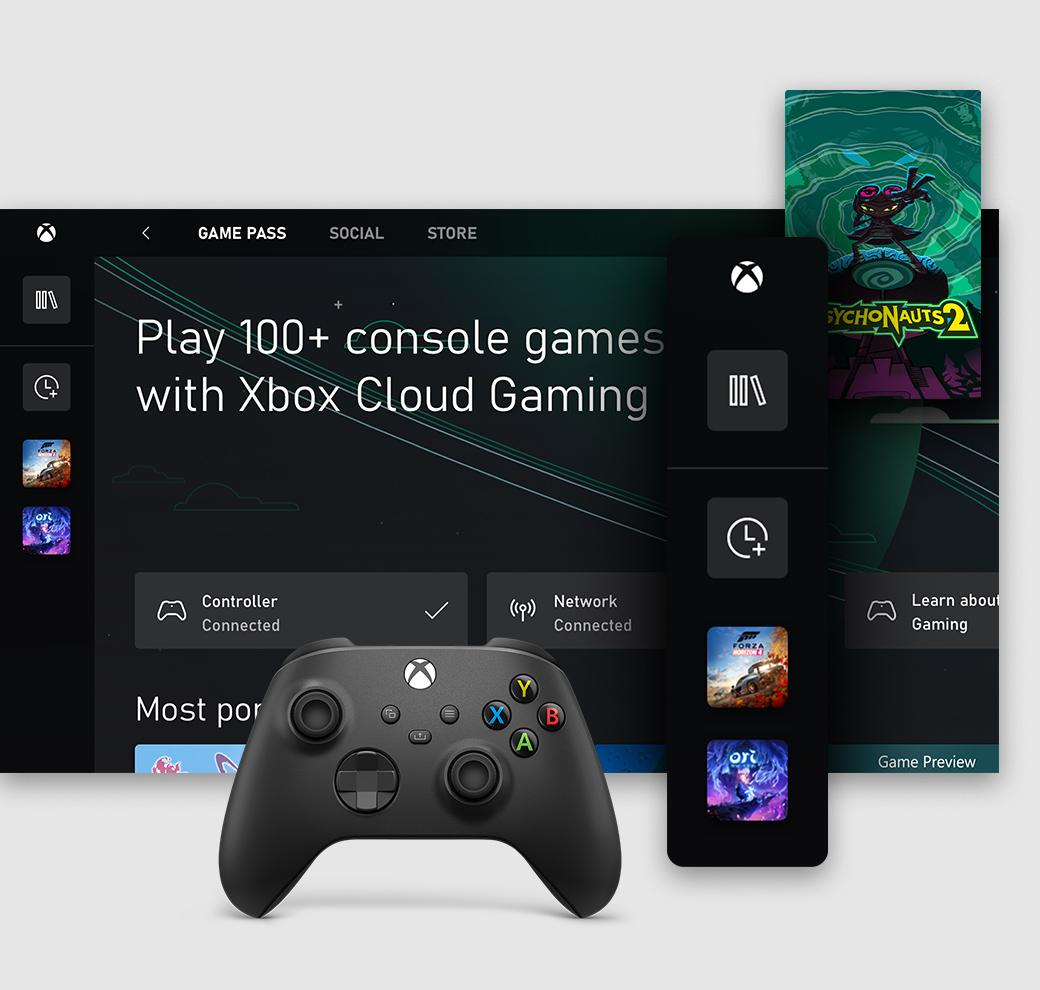 L'interfaccia utente dell'app Xbox per PC Windows su cui è visualizzata la scheda Xbox Game Pass
