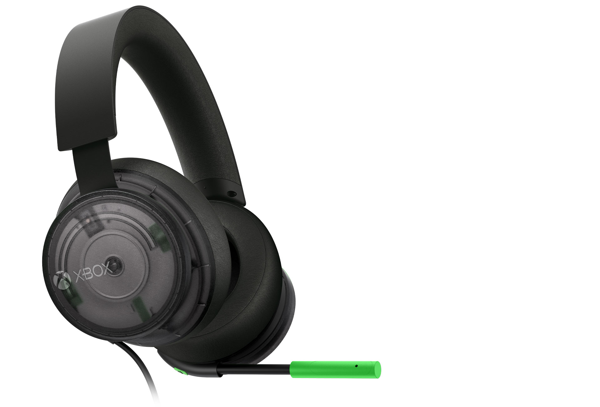 A 20th Anniversary Special Edition kiadású Xbox sztereó headset jobb oldali döntött képe