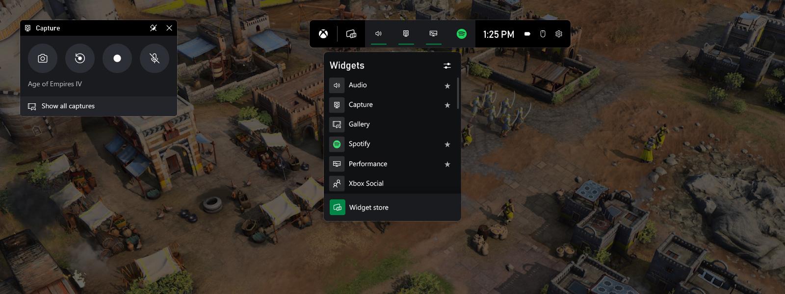 Schermata di acquisizione e trasmissione della schermata sulla dashboard di Xbox