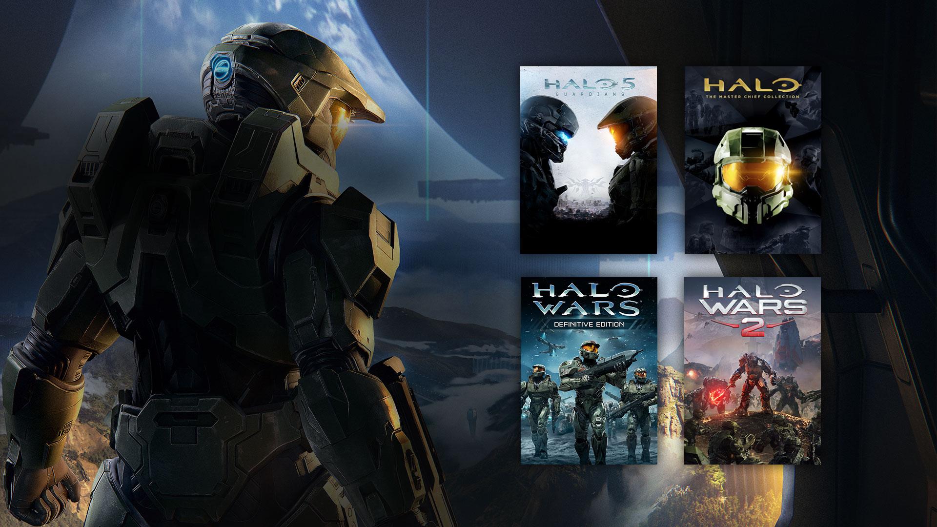 Master Chief con Halo 5, collezione Halo Mster chief, Halo Wars DE e Halo Wars 2